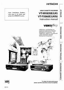 Hitachi Vtfx860eukn