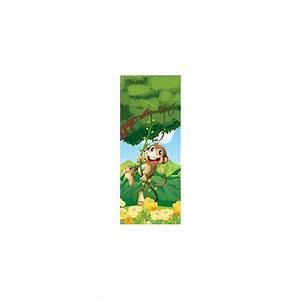 Papier Peint Sticker : papier peint porte enfant singe 1726 stickers muraux enfant ~ Premium-room.com Idées de Décoration