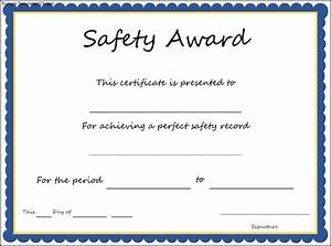 safety recognition certificate template best templates ideas With safety recognition certificate template
