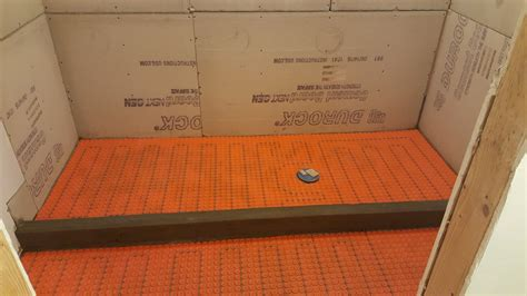 Durock Tile Membrane Vs Ditra by Heated Shower Tile Floor Installation With Ditra Heat