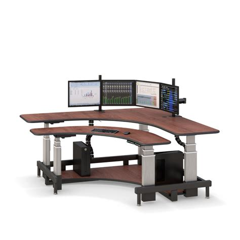 large adjustable height desk corner standing computer desk afcindustries com