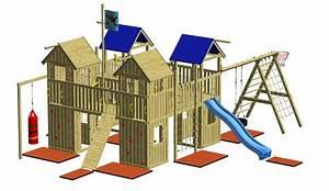Kinderspielplatz Selber Bauen : winnetoo spielturm holzspielhaus ritterburg schaukel rutsche kletterwand gp731 ebay ~ Markanthonyermac.com Haus und Dekorationen