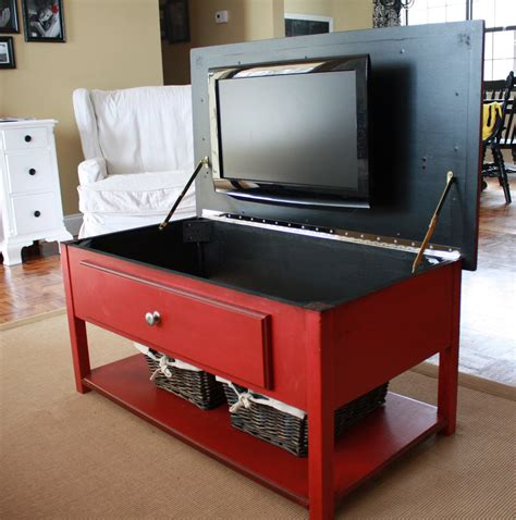 image of tv lift cabinets for flat it 39 s just the amazing coffee table