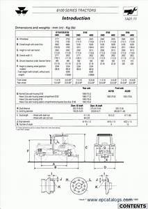 Workshop Service Manual For Massey Ferguson Tractors 8100