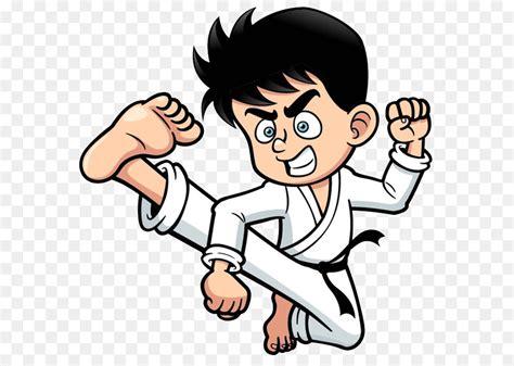 Kick Cartoon Karate Clip Art