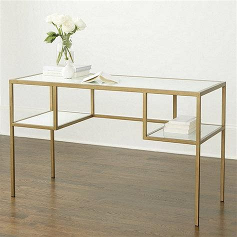 white desk with gold legs white glass antique gold frame desk