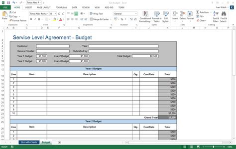 service level agreement templates templates forms