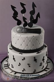 Music Note Themed Birthday Cake