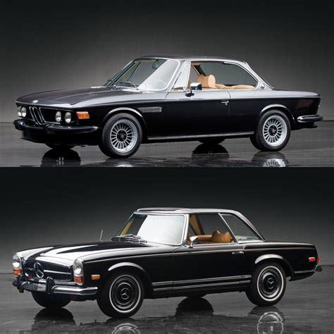 mercedes classic classic car face off bmw 3 0 cs coupe vs mercedes benz