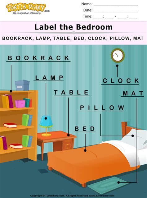 label  bedroom worksheet turtle diary