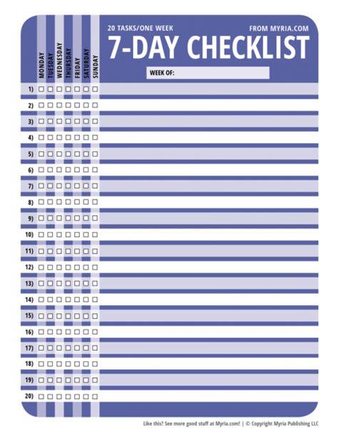 purse organizer for get organized free printable 7 day 20 task checklists