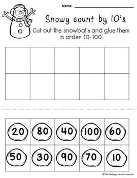 freebie kindergarten math and literacy 4 pages from