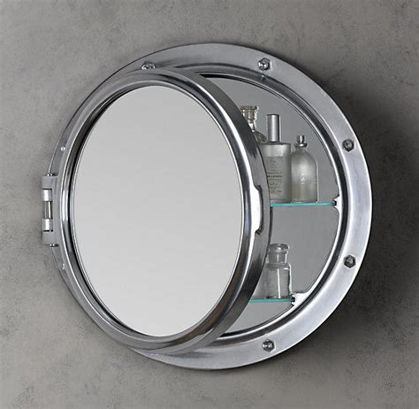 Porthole Mirrored Medicine Cabinet by Royal Naval Porthole Mirrored Medicine From Restoration