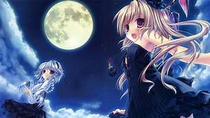 Full Moon Anime Wallpaper - WallpaperSafari