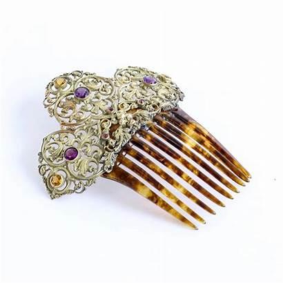 Hair Comb Jeweled 1890 Circa Lady Jewelry