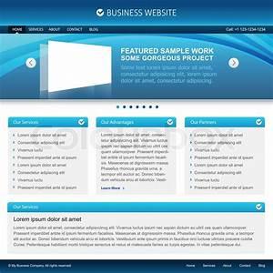 Blue Business Website Design Layout
