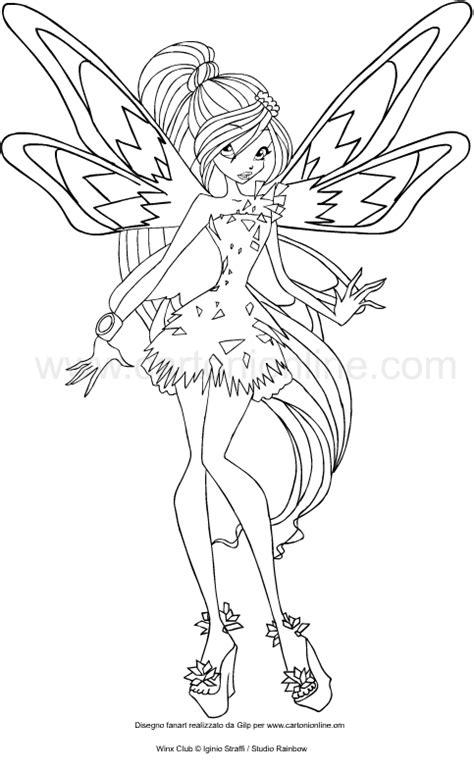 disegni da colorare winx disegno di bloom tynix winx club da colorare