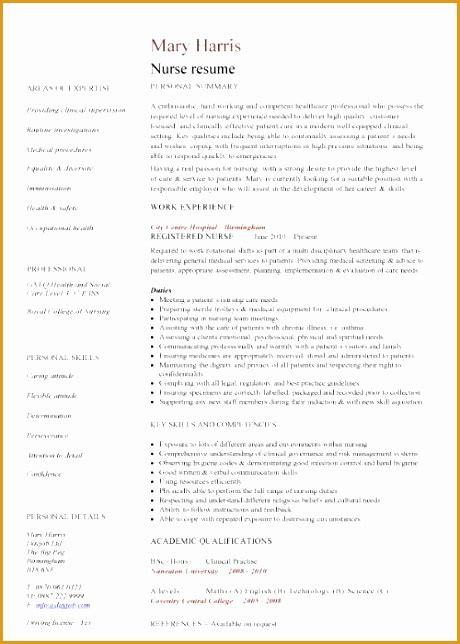 Nursing Cv by 5 Nursing Curriculum Vitae Templates Free Sles