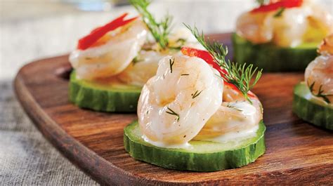 canape recipes shrimp and cucumber canapés iga recipes bell peppers