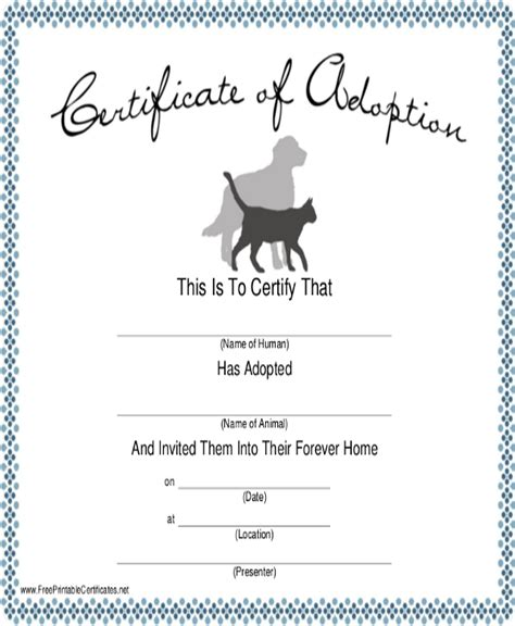 dog certificate template   ai word psd indesign