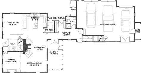 center colonial floor plans colonial house farmhouse plan by colonial homes