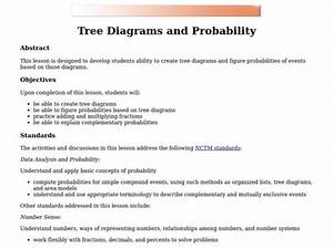 Tree Diagrams And Probability Lesson Plan For 7th
