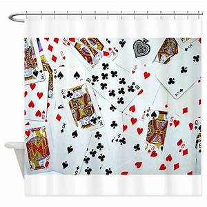 playing cards shower curtain by inspirationzstore With kitchen colors with white cabinets with playing card stickers