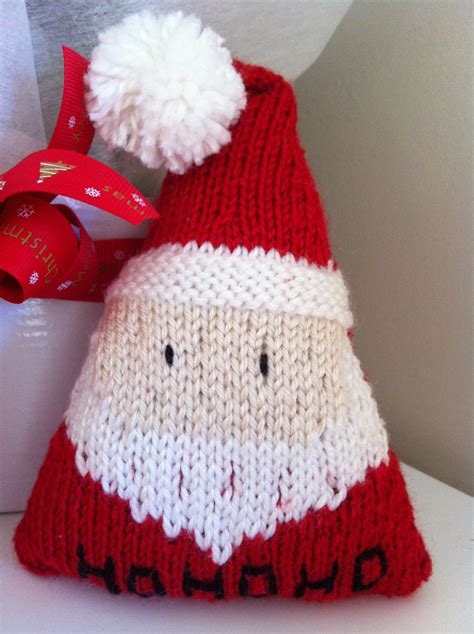 knitted christmas santa knit bake cultivate