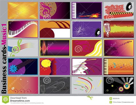 Music Business Cards Stock Vector. Image Of Banner, Copy Sample Business Plan Sales Letter Example And Parts For Vending Machine In Jamaica Card Dimensions Illustrator Colors The Philippines Cards Printing Zim