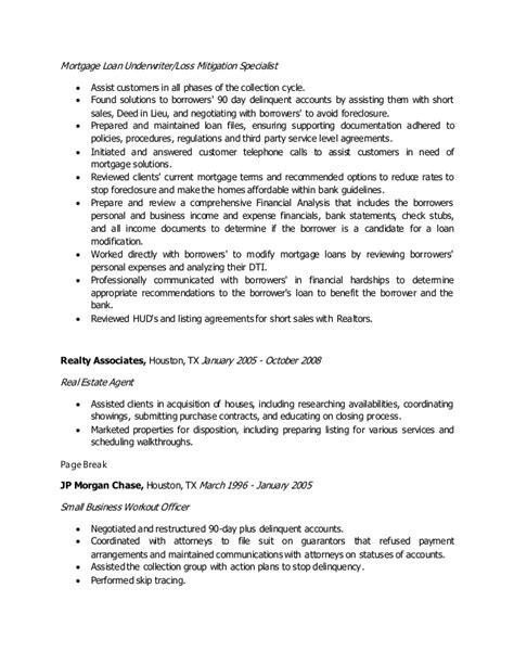 General Insurance Underwriter Resume by Mortgage Loan Underwriter Resume
