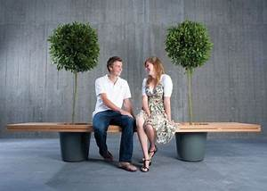 Wooden Bench Planter Built to Bring Two People Together