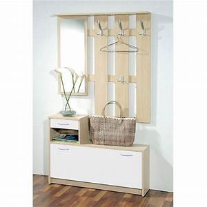 easy vestiaire erable et blanc 2 portes With vestiaire meuble d entree 0 meuble dentree vestiaire pin blanc trendymobilier