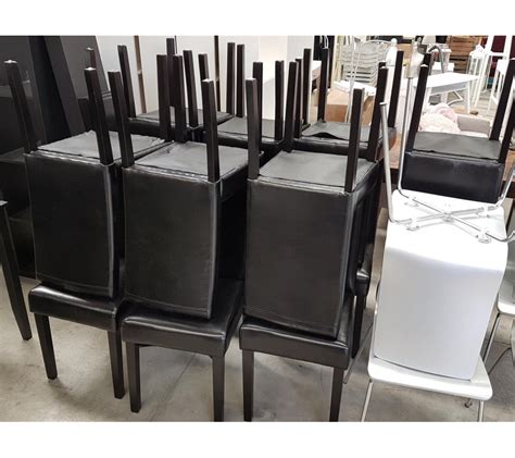 chaises simili cuir lot de 8 chaises en simili cuir ikea faillites info