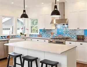 patchwork tile backsplash ideas kitchen 955
