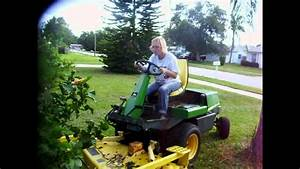 My Wife Learning To Drive Our New Diesel John Deere Mower