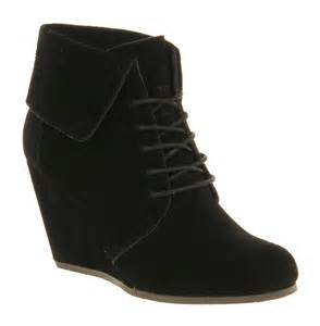 womens wedge boots size 12 womens office dabble wedge black suede boots size 6 ebay