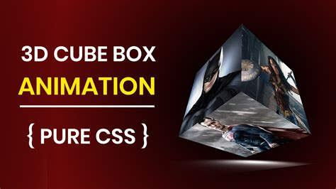 cube animation  html pure css codeeducation