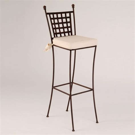 tabouret en fer forge tabouret de bar en fer forg 233 betty 4 pieds tables chaises et tabourets
