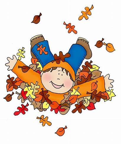 Fall Leaves Fun Boy Clipart Dolls Digi
