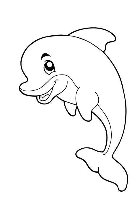 Kleurplaat Klein Wit Visje by Dolfijn Kleurplaat 21 Mooiste Dolfijnen Kleurplaten Voor