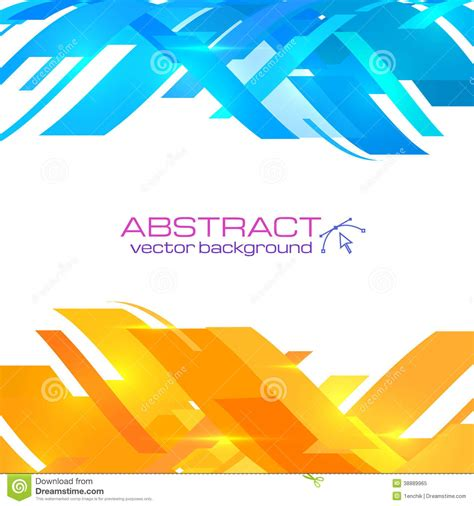 abstract blue  orange vector background stock vector