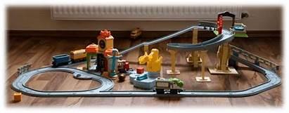 Chuggington Stadt Aufbauanleitung Frontaufnahme Interaktive Fuer