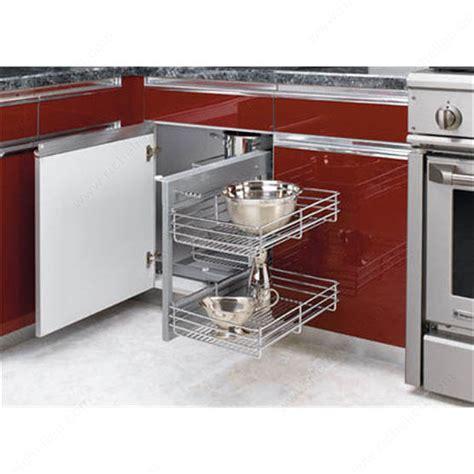 kitchen blind corner cabinet storage solutions universal blind corner optimizer richelieu hardware 9072