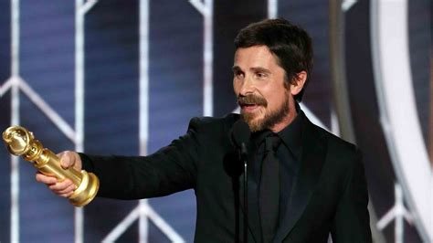 Watch The Golden Globe Awards Highlight Christian Bale