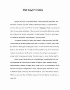 the giver essay introduction