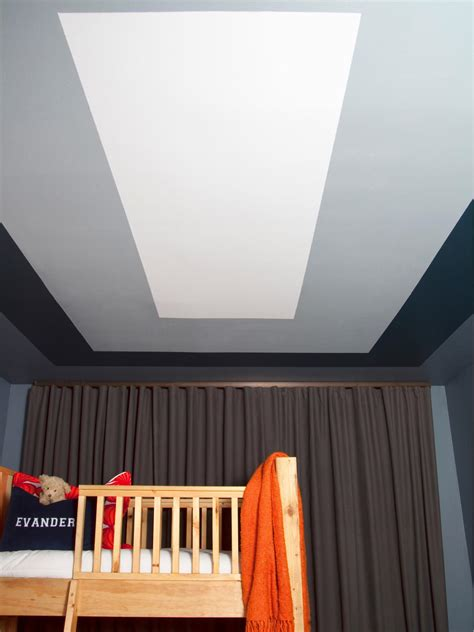 How To Paint A Graphic Modern Kids Room Ceiling Design