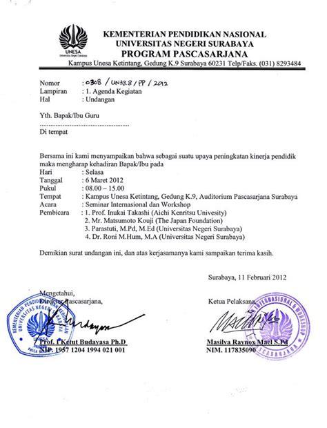 Contoh Undangan Surat Resmi by Contoh Surat Undangan Resmi Block Style Cara Ku Mu