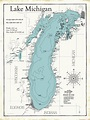 Lake Michigan Map Digital Art by Jean Plout