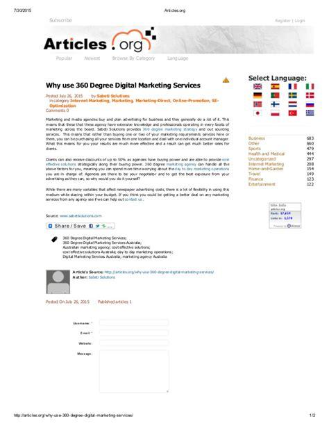 Digital Marketing Degree by Why Use 360 Degree Digital Marketing Services