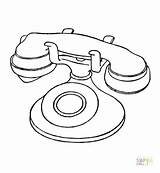 Telephone Coloring Pages Phone Printable Radio Booth Electronic Drawing Electronics Telecom Technology Pdf Getdrawings Tablets sketch template